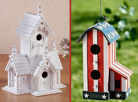 Оригинальные домики - кормушки для птиц